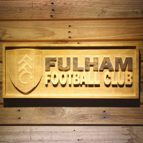 Image of London Fulham FC Wooden Sign - Small - SafeSpecial
