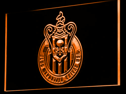 Los Angeles Club Deportivo Chivas USA LED Neon Sign - Orange - SafeSpecial