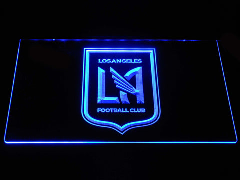 Image of Los Angeles Football Club LED Neon Sign - Blue - SafeSpecial