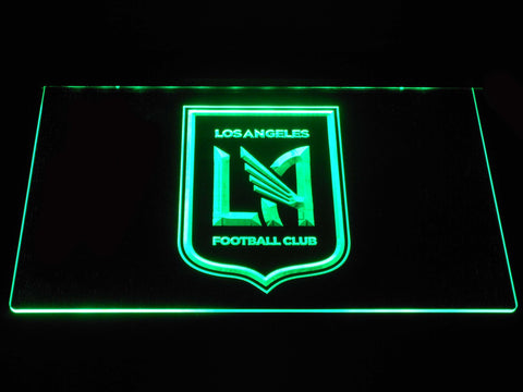 Image of Los Angeles Football Club LED Neon Sign - Green - SafeSpecial