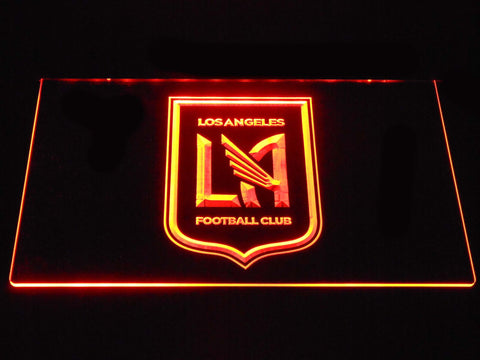 Image of Los Angeles Football Club LED Neon Sign - Orange - SafeSpecial