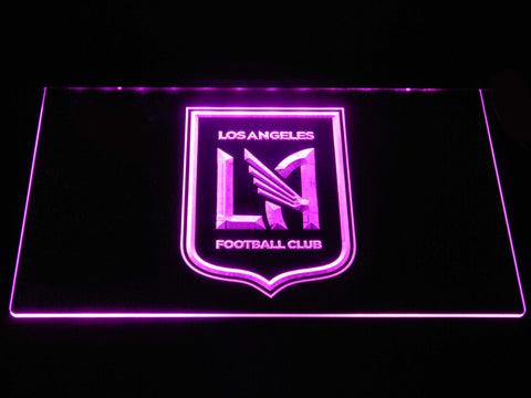 Image of Los Angeles Football Club LED Neon Sign - Purple - SafeSpecial
