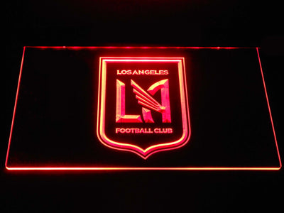 Los Angeles Football Club LED Neon Sign - Red - SafeSpecial