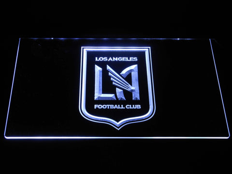 Image of Los Angeles Football Club LED Neon Sign - White - SafeSpecial