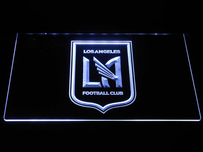Los Angeles Football Club LED Neon Sign - White - SafeSpecial