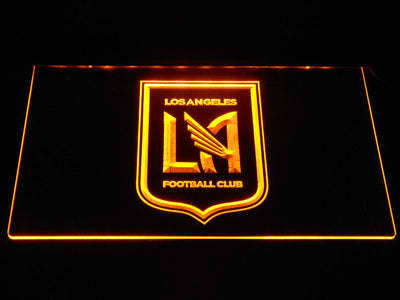 Los Angeles Football Club LED Neon Sign - Yellow - SafeSpecial