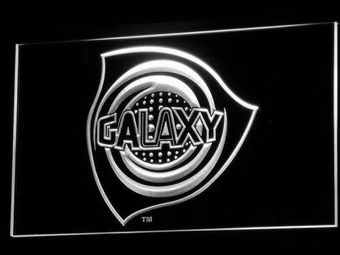 Los Angeles Galaxy LED Neon Sign - Legacy Edition - White - SafeSpecial