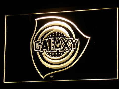 Los Angeles Galaxy LED Neon Sign - Legacy Edition - Yellow - SafeSpecial
