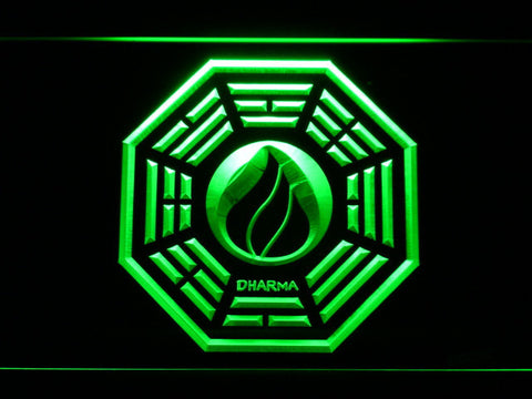 Image of Lost Dharma Initiative The Flame LED Neon Sign - Green - SafeSpecial