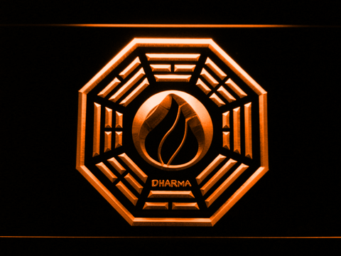 Image of Lost Dharma Initiative The Flame LED Neon Sign - Orange - SafeSpecial
