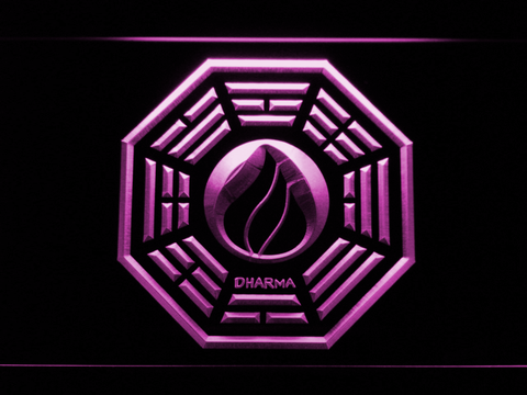Image of Lost Dharma Initiative The Flame LED Neon Sign - Purple - SafeSpecial