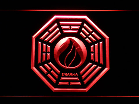 Image of Lost Dharma Initiative The Flame LED Neon Sign - Red - SafeSpecial