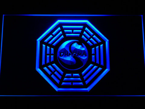 Image of Lost Dharma Initiative The Swan LED Neon Sign - Blue - SafeSpecial