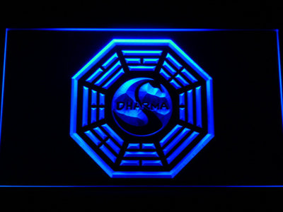 Lost Dharma Initiative The Swan LED Neon Sign - Blue - SafeSpecial