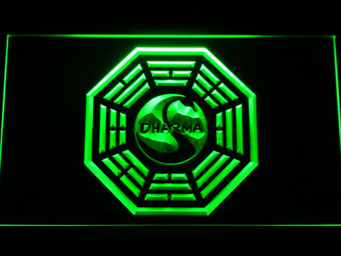 Image of Lost Dharma Initiative The Swan LED Neon Sign - Green - SafeSpecial