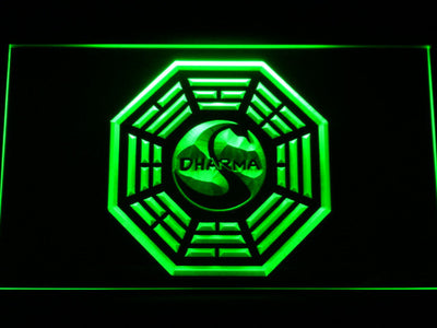 Lost Dharma Initiative The Swan LED Neon Sign - Green - SafeSpecial