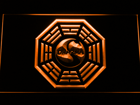 Image of Lost Dharma Initiative The Swan LED Neon Sign - Orange - SafeSpecial