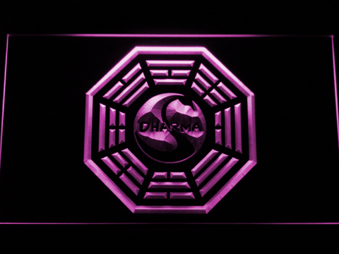 Image of Lost Dharma Initiative The Swan LED Neon Sign - Purple - SafeSpecial