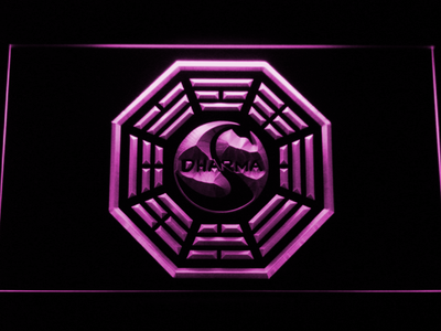 Lost Dharma Initiative The Swan LED Neon Sign - Purple - SafeSpecial