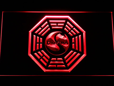 Image of Lost Dharma Initiative The Swan LED Neon Sign - Red - SafeSpecial