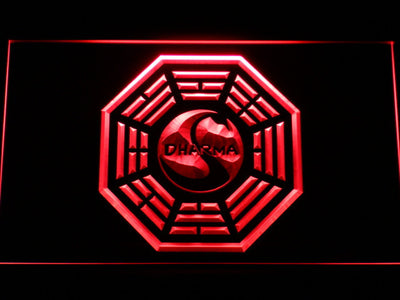 Lost Dharma Initiative The Swan LED Neon Sign - Red - SafeSpecial