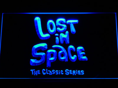 Lost in Space 1960s LED Neon Sign - Blue - SafeSpecial