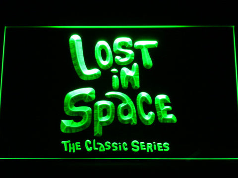 Lost in Space 1960s LED Neon Sign - Green - SafeSpecial