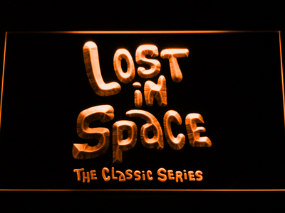 Lost in Space 1960s LED Neon Sign - Orange - SafeSpecial