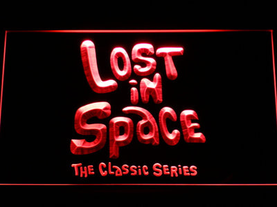 Lost in Space 1960s LED Neon Sign - Red - SafeSpecial