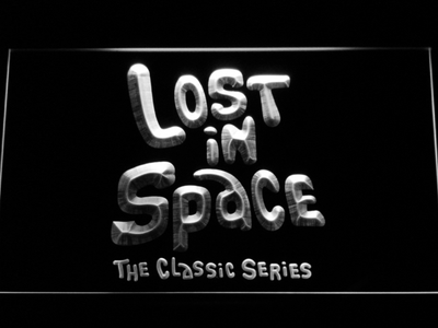 Lost in Space 1960s LED Neon Sign - White - SafeSpecial