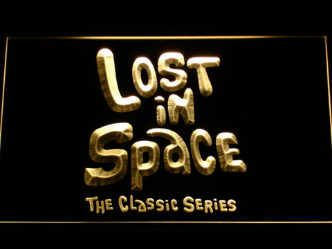 Lost in Space 1960s LED Neon Sign - Yellow - SafeSpecial