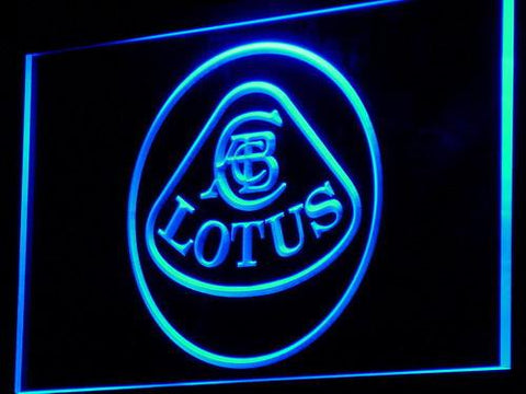 Image of Lotus Authorized LED Neon Sign - Blue - SafeSpecial