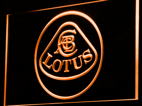 Image of Lotus Authorized LED Neon Sign - Orange - SafeSpecial