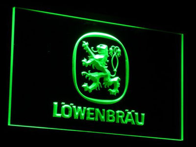 Lowenbrau LED Neon Sign - Green - SafeSpecial
