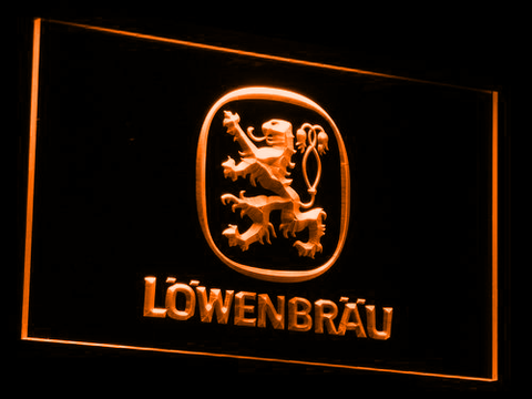 Image of Lowenbrau LED Neon Sign - Orange - SafeSpecial