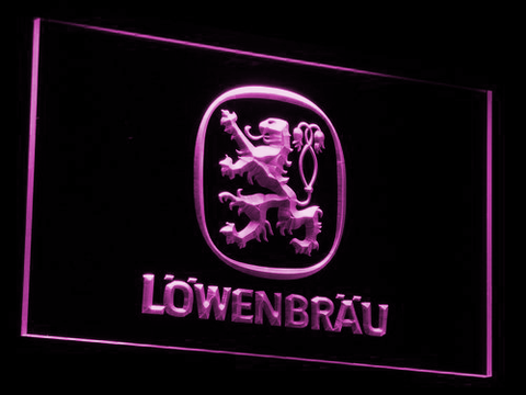 Image of Lowenbrau LED Neon Sign - Purple - SafeSpecial