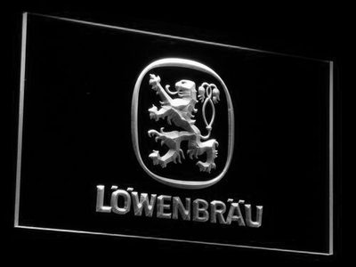 Lowenbrau LED Neon Sign - White - SafeSpecial