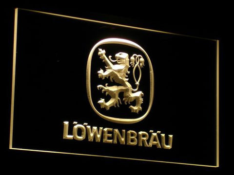 Image of Lowenbrau LED Neon Sign - Yellow - SafeSpecial