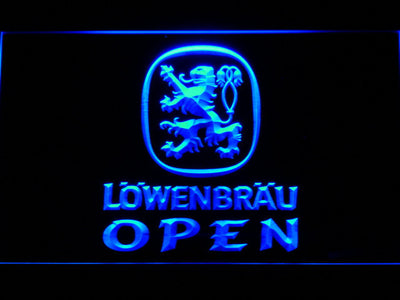 Lowenbrau Open LED Neon Sign - Blue - SafeSpecial