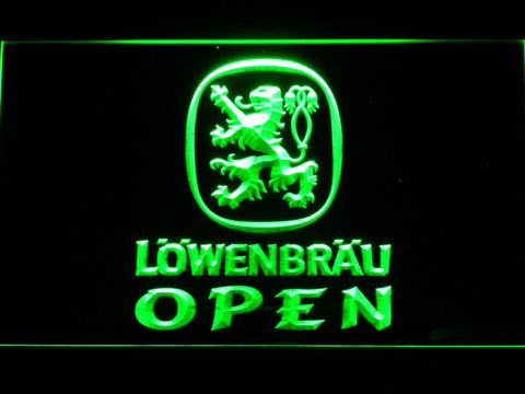 Image of Lowenbrau Open LED Neon Sign - Green - SafeSpecial