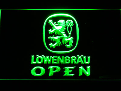 Lowenbrau Open LED Neon Sign - Green - SafeSpecial