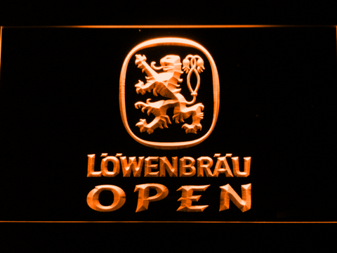Image of Lowenbrau Open LED Neon Sign - Orange - SafeSpecial
