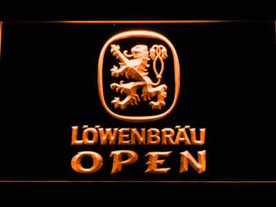 Lowenbrau Open LED Neon Sign - Orange - SafeSpecial