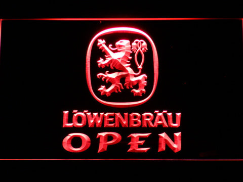 Image of Lowenbrau Open LED Neon Sign - Red - SafeSpecial