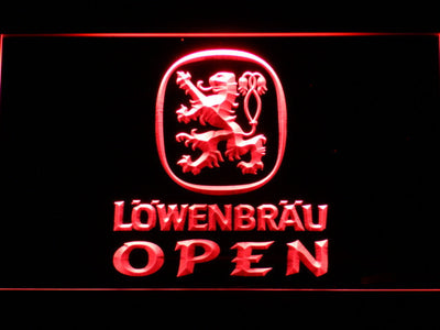 Lowenbrau Open LED Neon Sign - Red - SafeSpecial