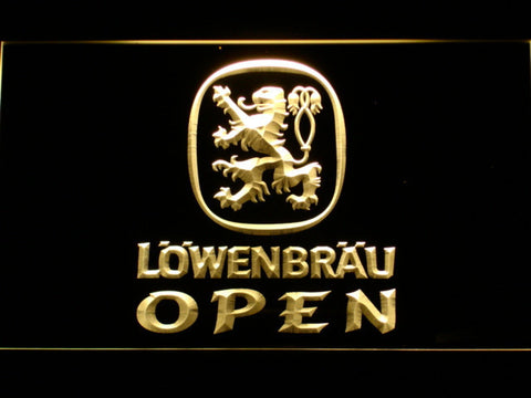 Image of Lowenbrau Open LED Neon Sign - Yellow - SafeSpecial
