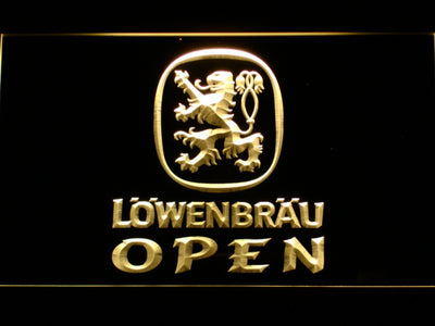 Lowenbrau Open LED Neon Sign - Yellow - SafeSpecial
