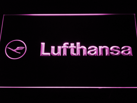 Lufthansa LED Neon Sign - Purple - SafeSpecial