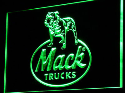 Mack Old Logo LED Neon Sign - Green - SafeSpecial