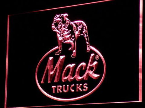 Image of Mack Old Logo LED Neon Sign - Red - SafeSpecial